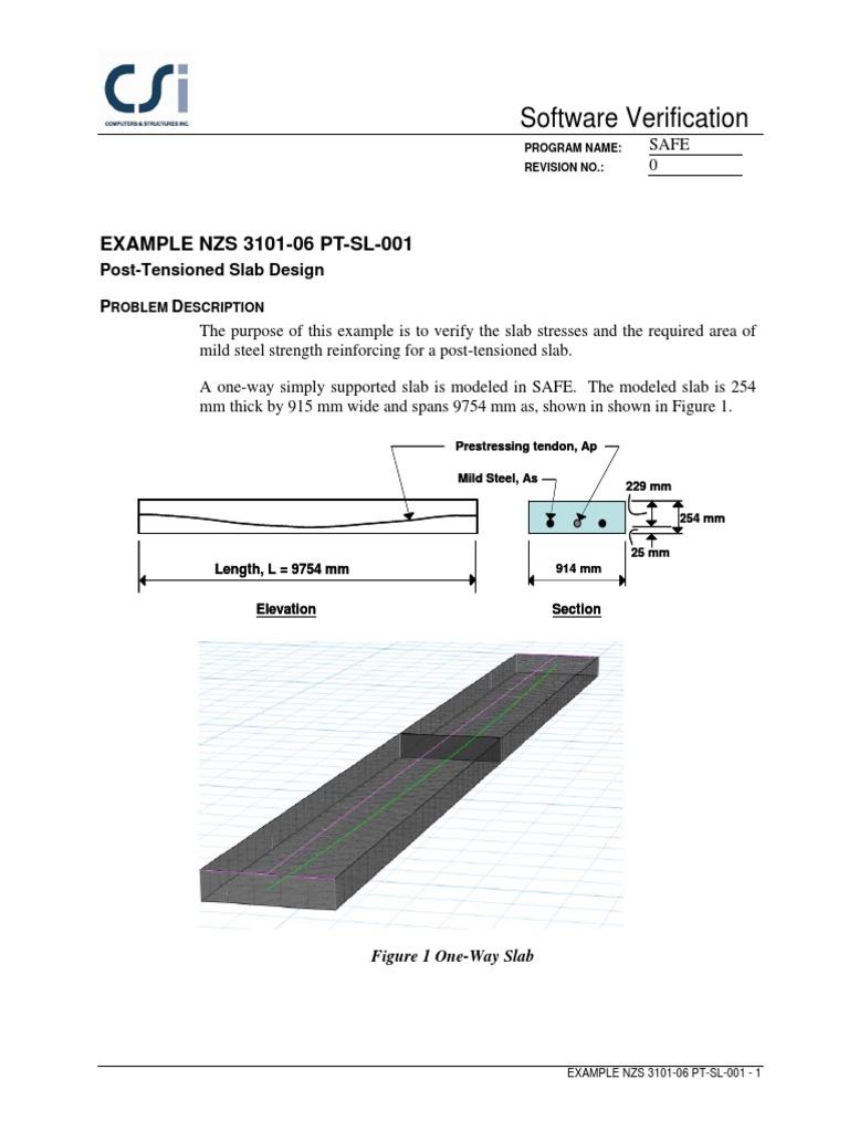 Post Tension Slab Design Example | Prestressed Concrete