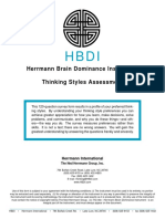 HBDI Assessment Form