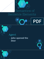 Linguistics Simplified Semantics