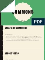 Summons Report