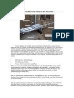 NEC STD Conduit Installation Details
