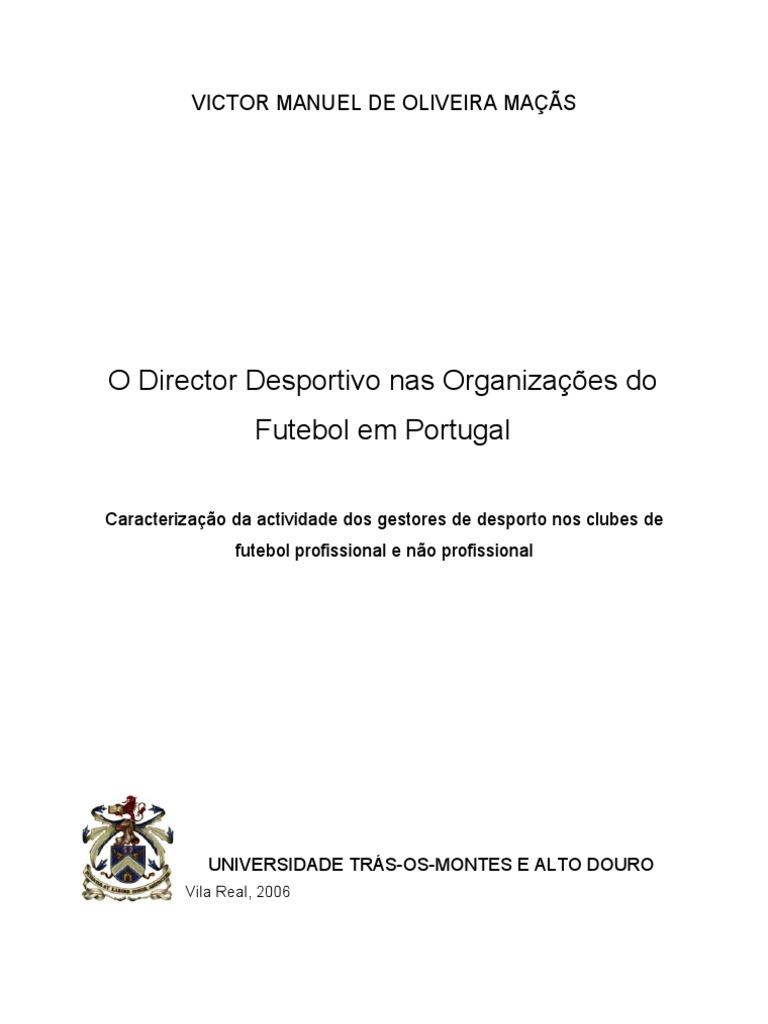 d6829acc4ee97 O Director Desportivo nas Organizações do Futebol em Portugal
