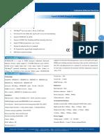 IT ES608 IM Datasheet - INDUSTRIAL ETHERNET MANAGED SWITCHES