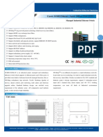 IT ES6116 IM 4F Datasheet - INDUSTRIAL ETHERNET MANAGED SWITCHES