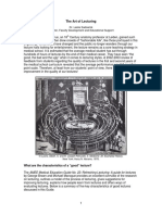 The Art of Lecturing PDF