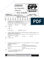 Class XI Physics DPP Set (23) - Previous Chaps + Rotational Motion
