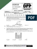 Class XI Physics DPP Set (25) - Previous Chaps + SHM