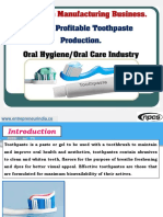 Toothpaste Manufacturing Business
