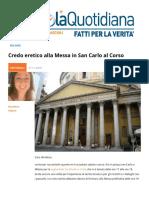 Credo Eretico Alla Messa in San Carlo Al Corso