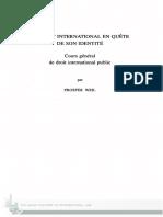 Prosper WEIL. Cours Général de Droit International Public