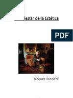 Jacques Ranciere. El Malestar de La Estéticia