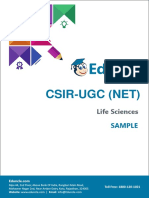 Sample Theory - CSIR NET LS (Post Transcription Modification) (UNIT-3)