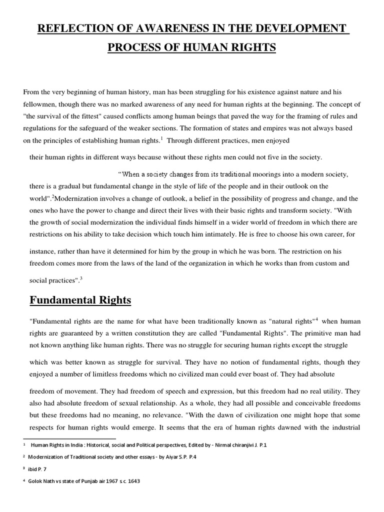 reflection paper human freedom