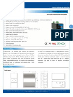 IT ES6116 IM Datasheet - INDUSTRIAL ETHERNET MANAGED SWITCHES