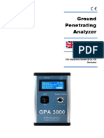 ground penetrating analyzer