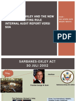 PPT SARBANES – OXLEY AND THE NEW INTERNAL AUDITING RULE INTERNAL AUDIT REPORT VERSI SOA