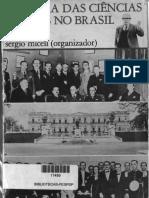 Micelli, Sergio. A ciências sociais no Brasil
