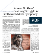All Men Become Brothers the Decades-Long Struggle for Beethoven's Ninth Symphony
