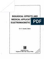 Biological Effect and Medical Applications of Electromagnetic Energy