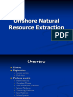 Offshore extraction of natural resources