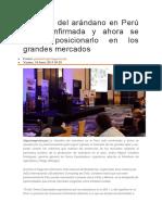 Industria Del Arándano en Perú Está Confirmada y Ahora Se Busca Posicionarlo en Los Grandes Mercados