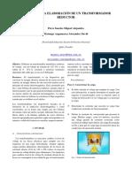 Informe Transformador Pérez Matango