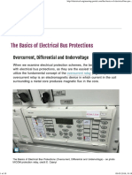 The Basics of Electrical Bus Protections