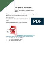 Fonemas según el punto de articulación.docx