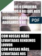 ADORAMOS O CORDEIRO