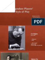 Legendary Players' Style of Play