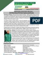 Boletín 08. Zonal Del Norte y Bajo Cauca de Los Juegos Departamentales.