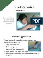 Criterios Médicos de La Demencia Senil en Salas de Medicina