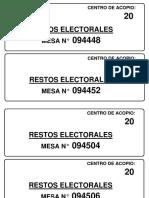 Restos Electorales