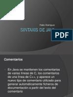 Sintaxis de Java