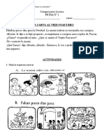 Ficha 1 Comprensión Lectora