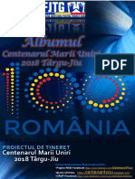Albumul Centenarul Marii Uniri 2018 Târgu-Jiu FJTG