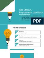 Stasiun, Emplasemen, Peron, Dan Standar Pelayanan Minimum Perkereta Apian Indonesia