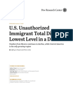 Pew Research Center U.S. Unauthorized Immigrants Total Dips 2018-11-27