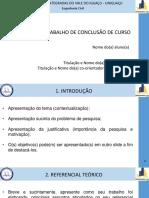 Modelo de apresentação tcc