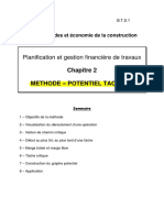 Cours2 Methode Des Potentiels Planning Preparation Chantier
