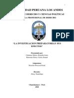 Derecho Procesal Penal - Investigacion Preparatoria