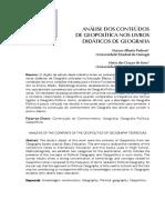 Pedroni y de Lima_análise Dos Conteúdos de Geopolítica Nos Livros Didáticos de Geografia