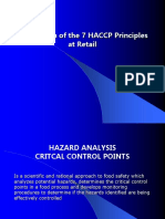 7E Appplication of Haccp