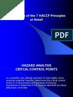 7E Appplication of Haccp