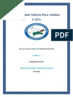 Evaluacion de Los Aprendizajes Tarea 5 EDWARD