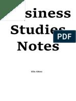 Business Studies Notes Hsc