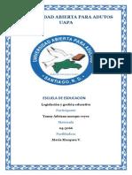 Lesgislacion Educativa Unidad 6