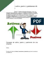 Concepto de Activos y Pasivos