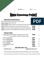 name etymology project pdf