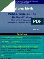 Lecture 12- Preterm Birth